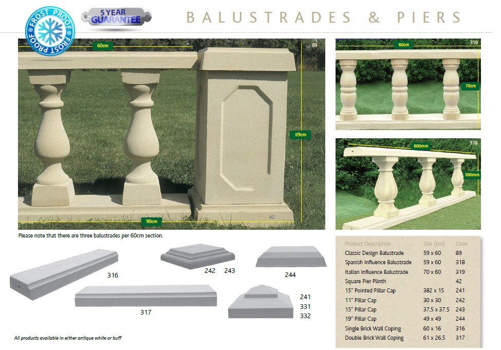 Balustrades Amp Piers