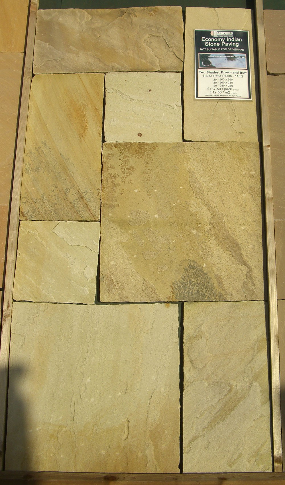 Hardlite - Indian Sandstone Paving - Bracken