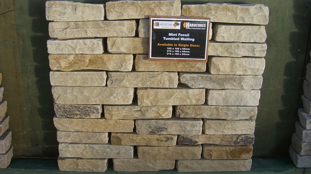 Hardstone Natural Stone Walling - Tumbled - Mint Fossil